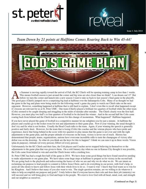 2014 July Newsletter