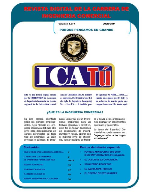 ICATU Revista digital de la carrera de Ingenieria Comercial