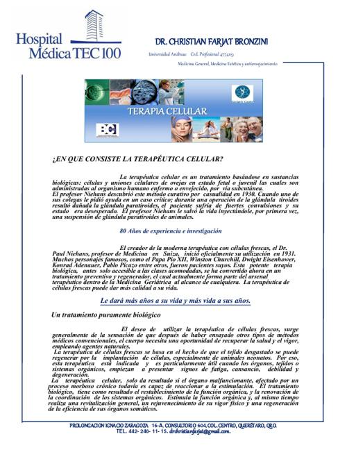Terapia Celular en Breve