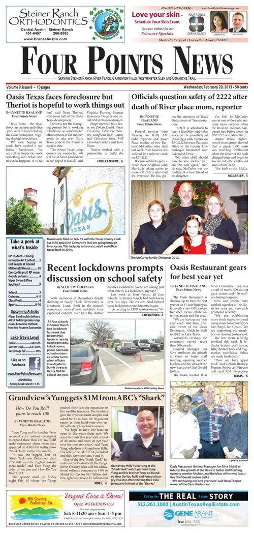 Four Points News February 20 2013 Issue