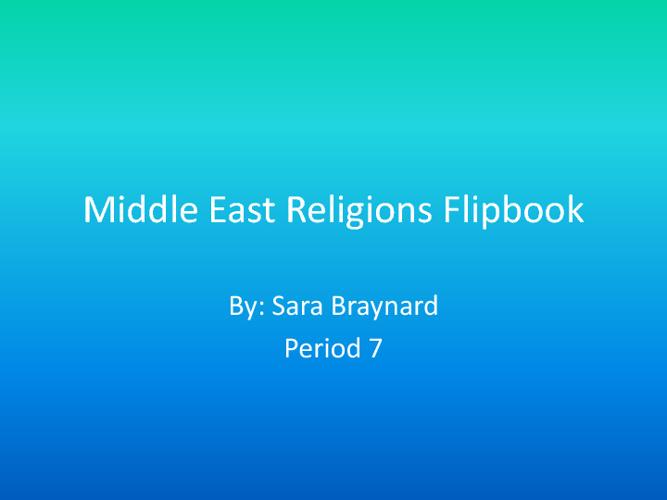 Religions Flipbook