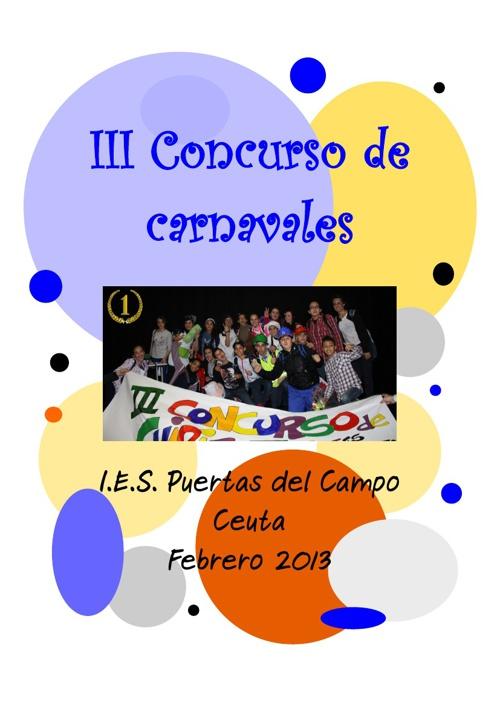 Revista del Carnaval del I.E.S. Puertas del Campo - 2012/2013