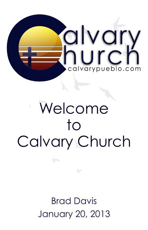 Calvary's Bulletin
