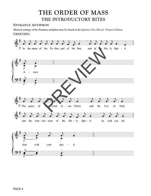 Ignatius Pew Missal: Ordinaries & Hymns