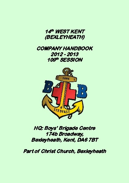 14th West Kent BB Handbook 2012