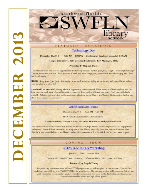 SWFLN December 2013 CE News