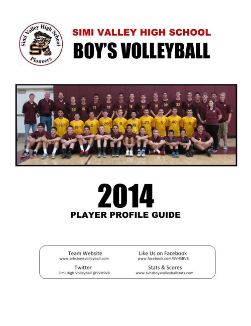 2014 Simi Valley Boy's Volleyball Media Guide
