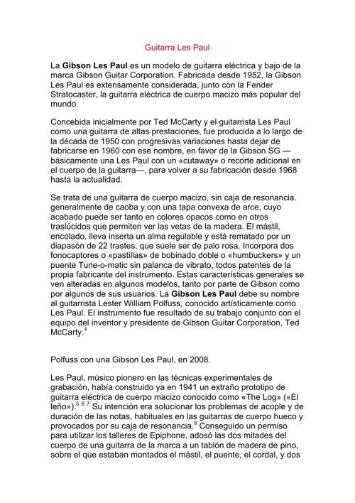 La Guitarra Les Paul