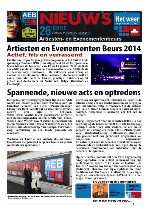AEB Nieuws - editie do 9 januari 2014