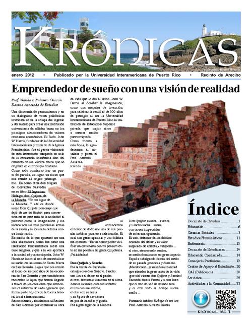Periódico Krónicas - enero 2012
