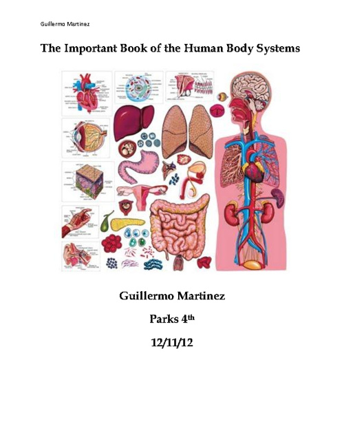The Important Book of the Human Body Systems