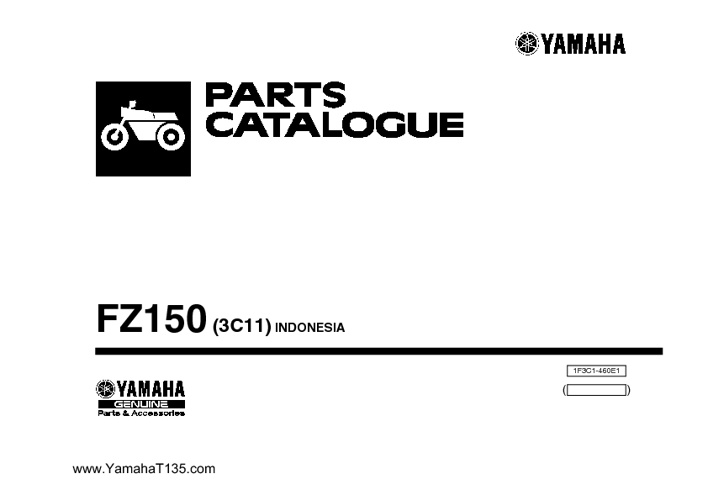 Part Catalog Yamaha V-Xion-fz150i