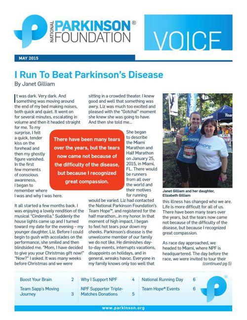 Summer 2015 Parkinson's Voice