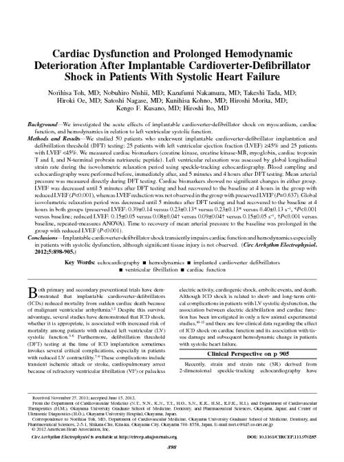 Circulation:Arrhythmia and Electrophysiology