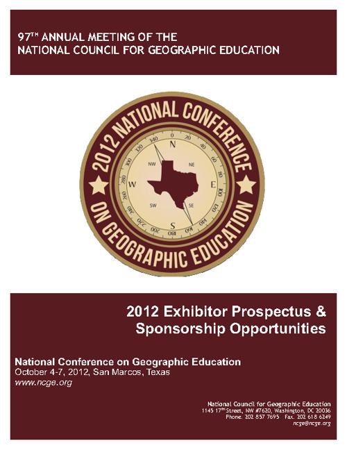 2012 NCGE Exhibitor Perspective