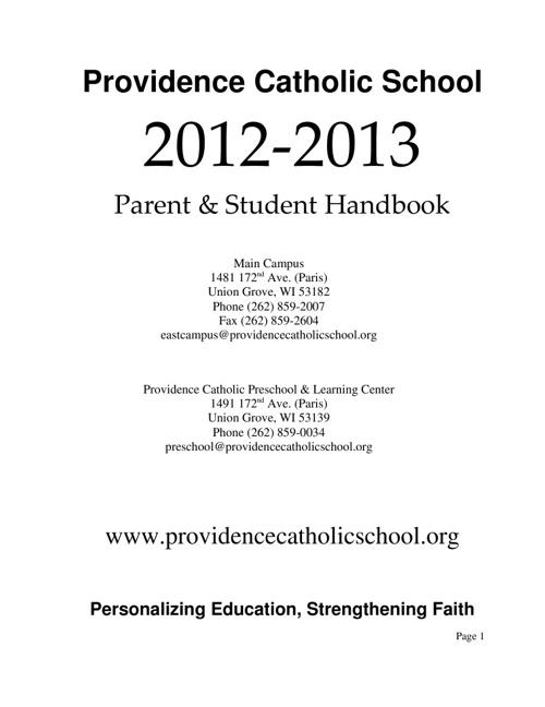Parent & Student Handbook