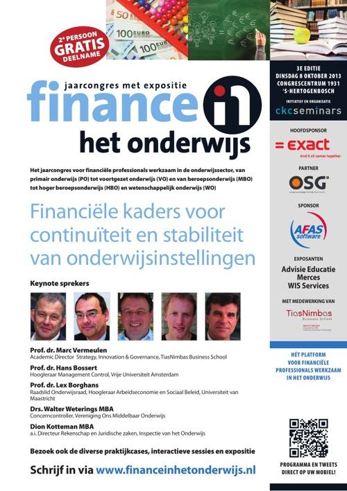 Jaarcongres Finance in het Onderwijs 2013