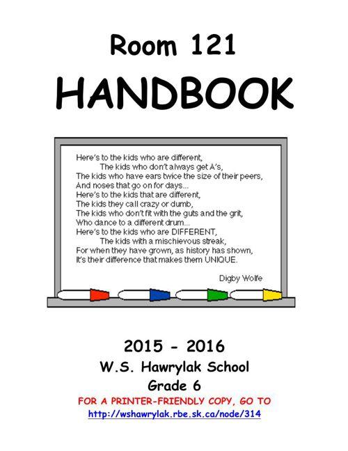Room 121's Handbook 2015-16