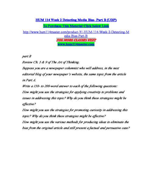 HUM 114 MASTER Teaching Effectively/hum114master.com