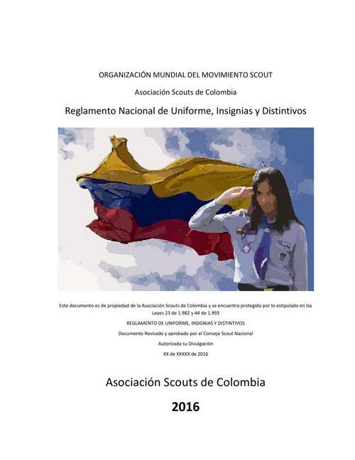 Scouts de Colombia- Reglamento  Uniformes - 2016