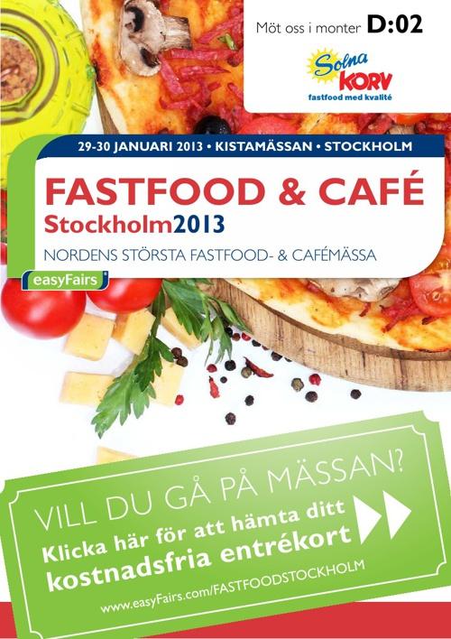 E-biljett FASTFOOD & CAFÉ Stockholm 2013 - Solna Korv