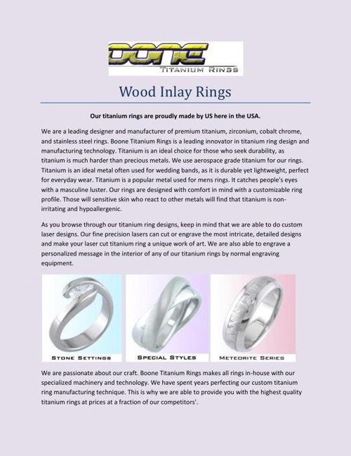 Wood Inlay Rings