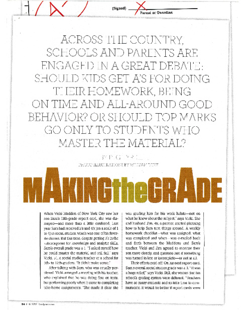 Making the Grade Article