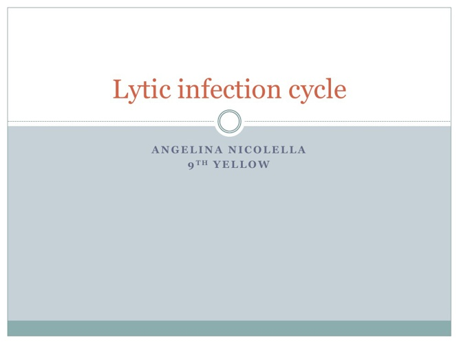 Lytic infection