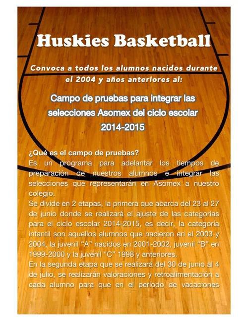 HUSKIES CAMPAMENTO DEPORTIVO 2014