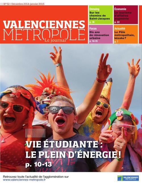 Valenciennes Métropole, le journal (n°52) décembre-janvier