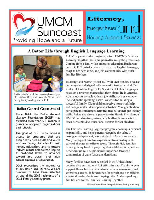 UMCM Suncoast Newsletter - July 2015