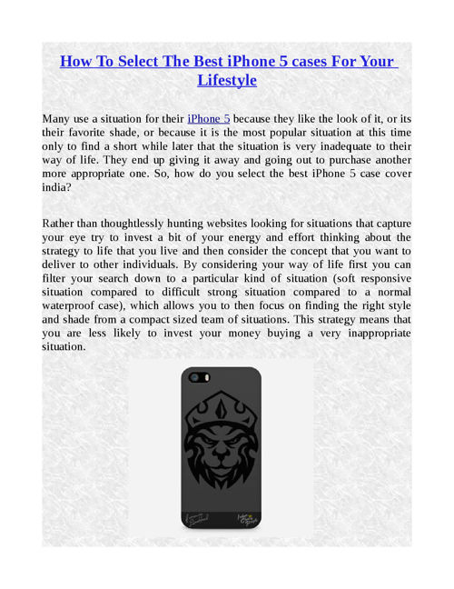How To Select The Best iPhone 5 cases For Your Lifestyle