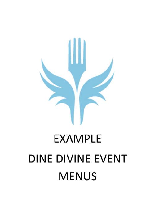Dine Divine Example Menus