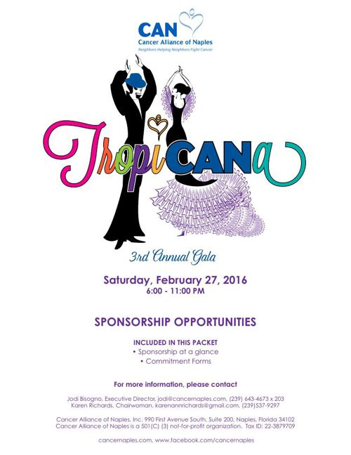 Tropi-CAN-a Gala Sponsorship Opportunities