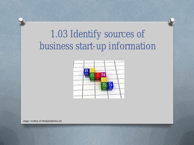 Sources of Business Start -up Information