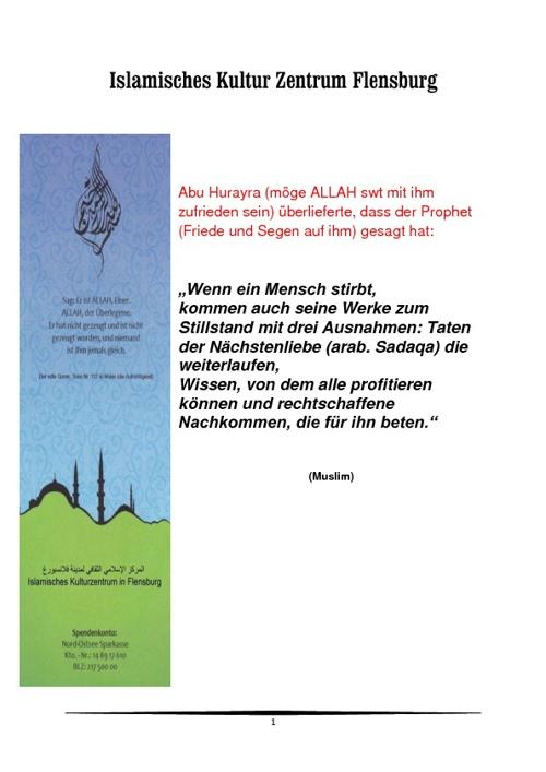 Islamische Kulturzentrum Flensburg deutsch