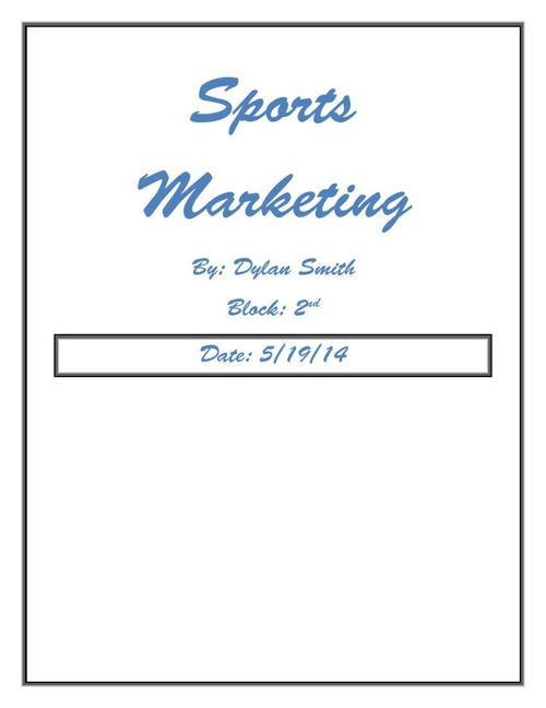 Sports Marketing Portfolio