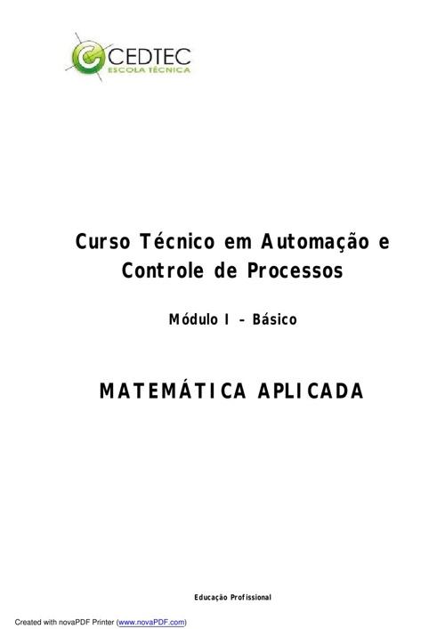 Matemática Aplicada + NORMA REGULAMENTADORA 10 + SEGURANÇA, MEIO