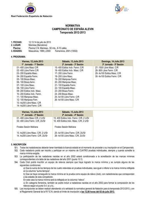 Minimas España Alevin
