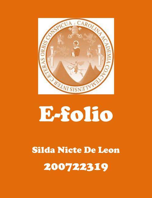 e-folio Nicte De Leon