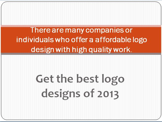 best logo design of 2013