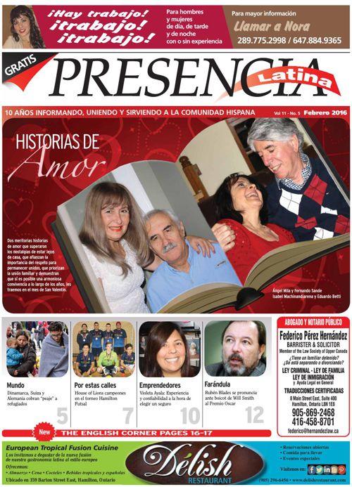 Edicion Virtual Presencia Latina Febreo 2016