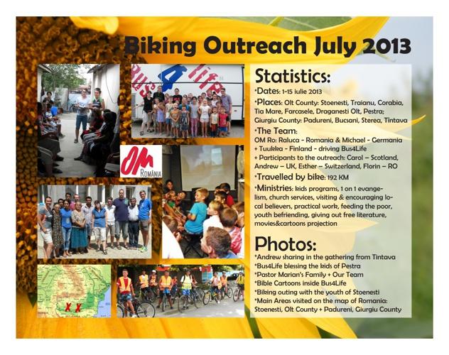 Biking Outreach Romania 2013