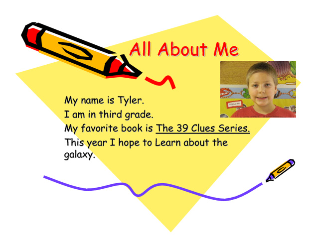 All About Me - Mrs. Landis