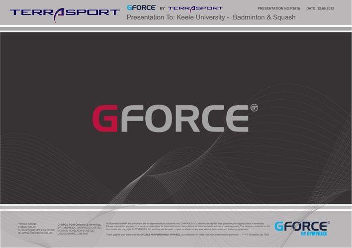 GForce Badminton and squash