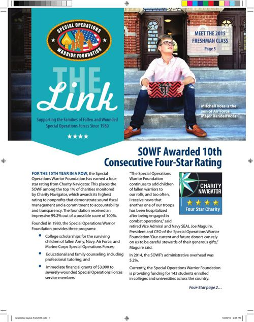 SOWF Fall Newsletter 2015