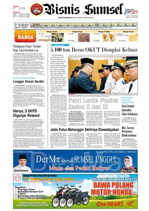 Radar Palembang Edisi 07-03-2013 Koran 2