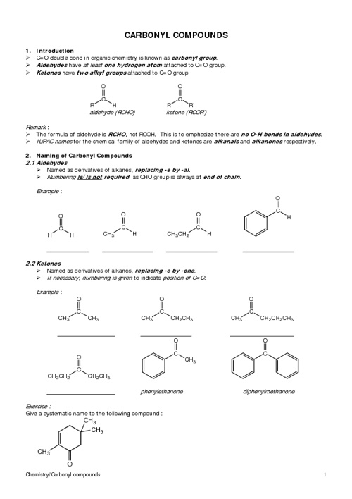 HKAL Section 12.5 (Carbonyl Compounds)