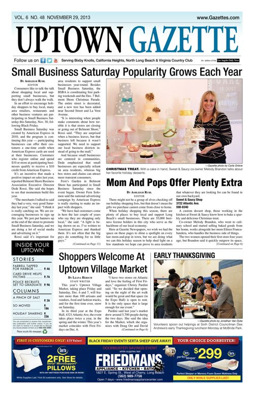 Uptown Gazette  |  November 29, 2013