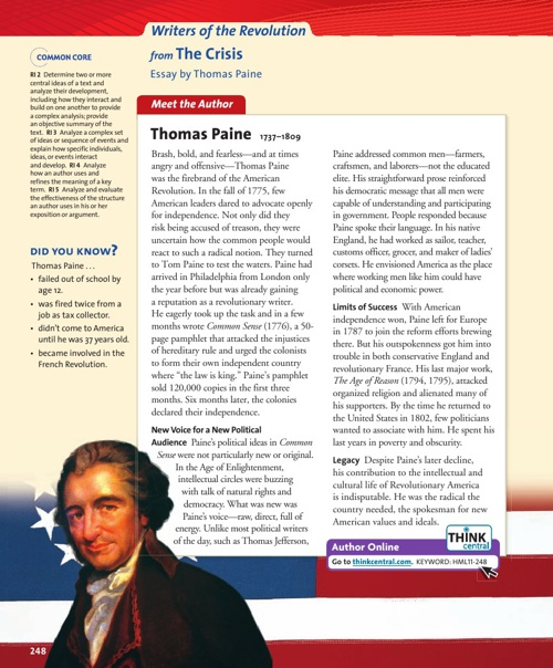 "Thomas Paine ""The Crisis"""